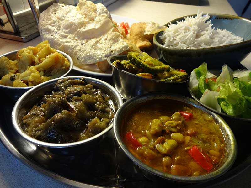Indian Meal from the green kitchen