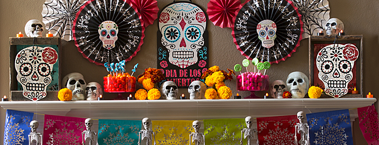 Day of the dead, with a Mexican menu